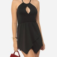 Casual Hollow Out Plain Sexy Halter Rompers