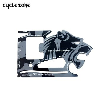 1PC Credit Card Multifunctional Pocket Knife Wallet Multi Tool Multitool Camping Survival Tools Wrench Microtech Tiger Ninja