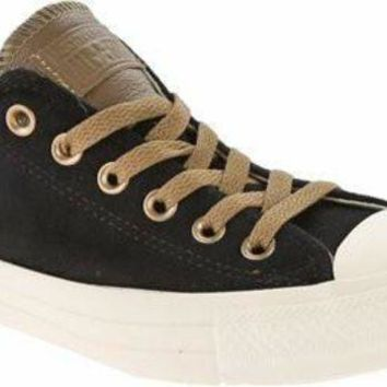 LMFUG7 Converse Unisex Chuck Taylor All Star Ox Low Top Black Sneakers - 7 C/D US Women / 5 D