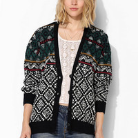 Staring At Stars Folk Diamond Sweater - Urban Outfitters