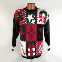 Ugly Christmas Sweater Vintage Party Holiday Tacky