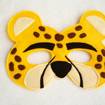 Children's CHEETAH Felt Animal Mask