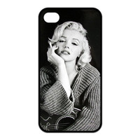 New 2016 Marilyn Monroe Smoking Hard Case for iphone 4 4s 5 5s 5c 6 6s 6plus 6s plus-Free shipping