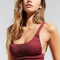 Out From Under Meg Ribbed Scoop Neck Bikini Top | Urban Outfitters