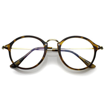 Dapper Round Euro Clear Lens Optical RX Round Glasses C122