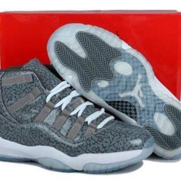Cheap Air Jordan 11(XI) 3Lab5 Men Shoes Cool Grey Custom