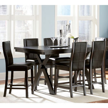 Homelegance Rigby 7 Piece Counter Height Dining Room Set w/ X-Base