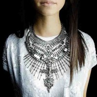 Silver Phoenix Statement Necklace