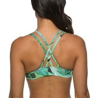 Printed Fendrick Fixed-Back Top - Palm Frond