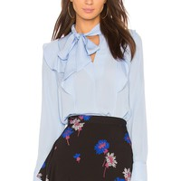 Tanya Taylor Schulyer Top in Periwinkle | REVOLVE