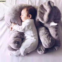 Plush Baby Soft Kawaii Decorative Pillows Cushion Elephant Sleep Pillow Large Stuffed Animal Doll Kids Toys R20