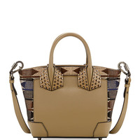 Christian Louboutin Eloise Small Embroidered Satchel Bag, Olive