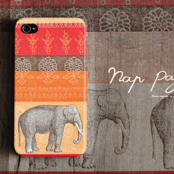 Apple iphone case for iphone iphone 4 iphone 4s iphone 3Gs : Vintage India elephant
