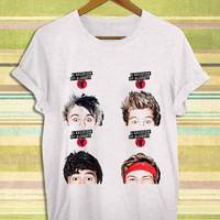 Screenprint funny popular shirt on etsy 5sos, 5 second of summer, 5sos face for t shirt mens, t shirt woman available size by RnhKaos