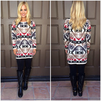 Vision Quest Tribal Knit Dress