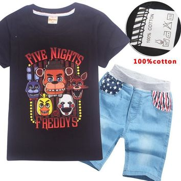 3-12 Year five night at freddy Big Boy tshirt Teenage Sports Pants Spring Toddler Casual Kids Trousers For Boys Clothes  YSX1051