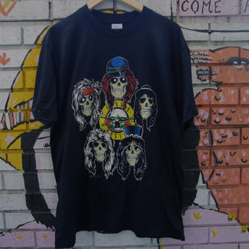 Deadstock GUNS N' ROSES shirt 1989 Appetite for Destruction art n.o.s. rare rock concert hair metal axl rose slash gnr guns n roses tshirt