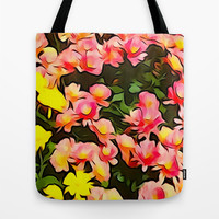 Painted Fall Flower Bouquet Tote Bag by KCavender Designs