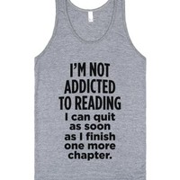 I'm Not Addicted To Reading-Unisex Athletic Grey Tank