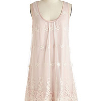 ModCloth Boho Mid-length Sleeveless Shift Graceful Companion Dress