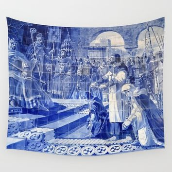Portuguese Historical Art. Wall Tapestry by Tony Silveira