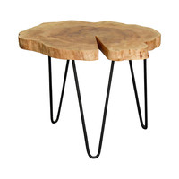 Sling Groove Accent Table