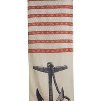 Nautical Anchor Vineyard Linen Scarf