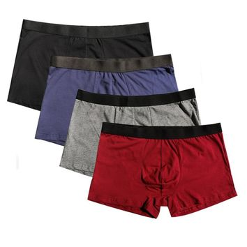 17f547729 Panties Mens 4Pcs lot Underwear Organic Natural Cotton Boxers Men Sexy  Boxers Ventilate Plus Size