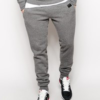 True Religion Sweat Pants Slim Fit Aplique Patch - Anthra-marl