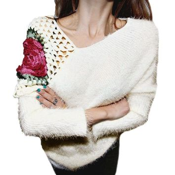 Floral Embroidered Sweater 2 Colors