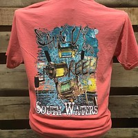 South Waters Shut Up & Reel Fishing Comfort Colors Bright Unisex T Shirt