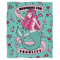 Mermaids For Equality (blanket)