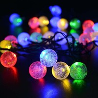 ONETOW 5M28Bubble Ball Led String Lights Linkable Ball holiday String Light for Home Decoration/Wedding/Birthday/Holiday/Chrismas Party