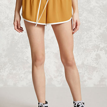 Contrast-Trim Dolphin Shorts
