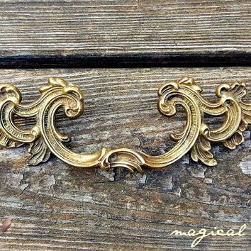 Br Drawer Pull By Keeler Co French Provincial Vintage