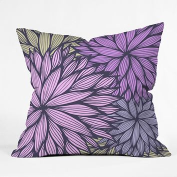 Gabi Purple Dahlia Throw Pillow