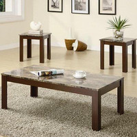 3-Piece Coffee Table and End Table Set Living Room Coffe Tea New Free Ship