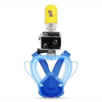 DCCKL6D Anti-fog Anti-Leak RKD Kids buceo Snorkel Mask Scuba Panoramic Underwater Diving Goggle Breath Pipe Snorkel Set For Gopro Camera