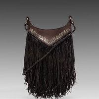 Tylie Fringe Bag in Black