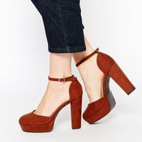 New Look 70s Blocked Heeled Platform