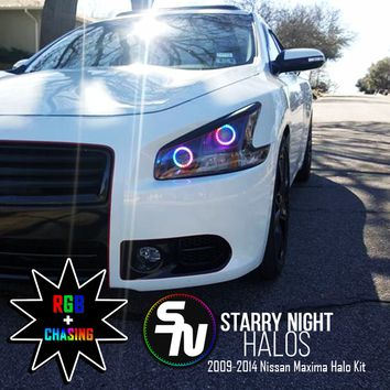 2009-2014 Nissan Maxima Projector RGB + Chasing Starry Night Halo Kit (Pair)ˑ