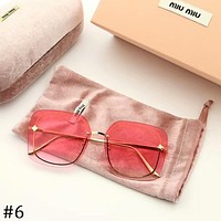 MIUMIU 2018 new round face marine film sunglasses color transparent sunglasses F-A-SDYJ #6