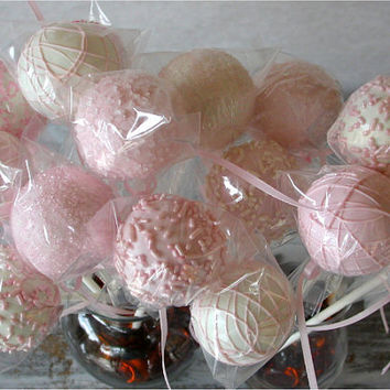 Cake Pops  Soft Pink Bridal Shower Party by SimplyDivineDesserts