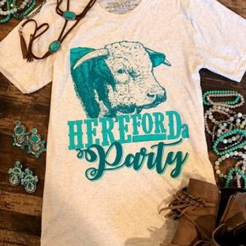 Hereford a Party Tee by Crazy Train