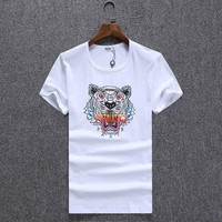One-nice™ KENZO Women Man Fashion Print Sport Short Sleeve Shirt Top Tee