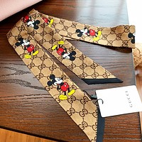 GUCCI & Disney New fashion more letter mouse print scarf