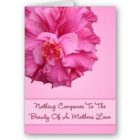 Beauty Of A Mothers Love Card from Zazzle.com