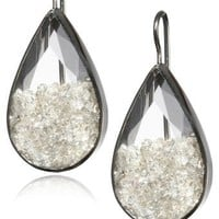 "Moritz Glik ""Kaleidoscope"" 18K White Gold and Floating Diamond Circle Earrings"