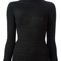 M Missoni textured knit turtle neck sweater