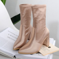 Fashion Women Thick heels shorts boots waterproof platform Martin boots